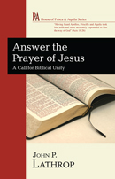 >Answer the Prayer of Jesus