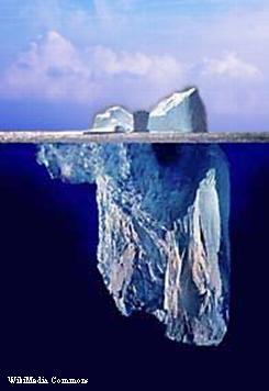 iceberg from WikiMedia Commons