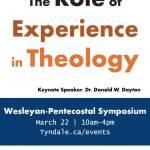 Wesleyan-Pentecostal Symposium 2016