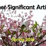 Spring 2016: Other Significant Articles