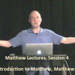 Craig Keener: Matthew, Lecture 4