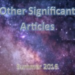 Summer 2016: Other Significant Articles
