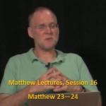 Craig Keener: Matthew, Lecture 16