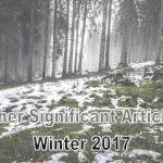 Winter 2017: Other Significant Articles