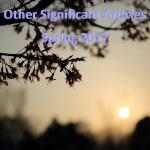 Spring 2017: Other Significant Articles