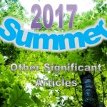 Summer 2017: Other Significant Articles
