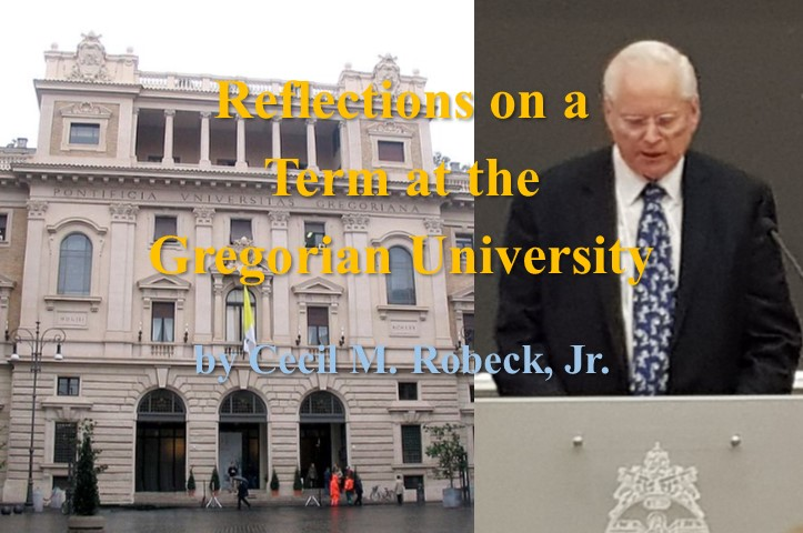 Reflections on a Term at the Gregorian University