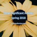 Spring 2018: Other Significant Articles