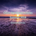 Summer 2018: Other Significant Articles