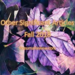 Fall 2018: Other Significant Articles