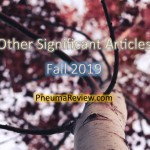 Fall 2019: Other Significant Articles