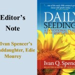 Daily Seedings: Editor's Note