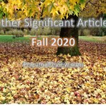 Fall 2020: Other Significant Articles